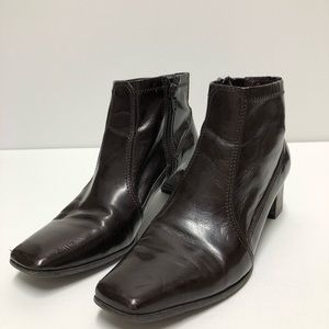 Chocolate Ankle Zip Boots